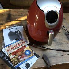 Power Air Fryer XL Pro (3.4 Quart) Used Original Packaging Manual Red