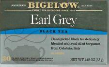 Bigelow Earl Grey Black  Tea 20 Tea Bags All Natural  1.18 oz