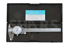 SHOCK PROOF 150/0.02MM METRIC DIAL CALIPER STAINLESS 4 WAY + INSPECTION REPORT P