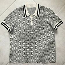 Tory Burch Gemini Link Short Sleeve Polo Sweater - Size Large