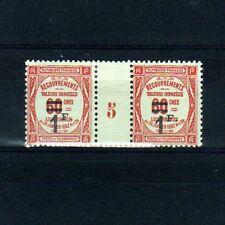 FRANCE Taxe n° 53 neuf avec charnière - Paire millésime 5