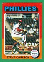 1975 TOPPS MINI #185 STEVE CARLTON  NM  PHILADELPHIA PHILLIES  HOF  300 WINS