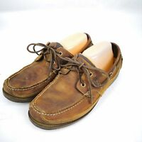 MENS Timberland Classic 2 Eye Boat Shoes Casual Slip On Leather Loafers Size 10