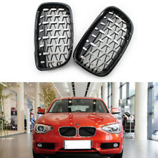 Fit for BMW 1 Series F20 2011-14 Grille Black With Chrome Diamond Meteor Style