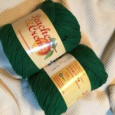 #20 Lot of 2 Peaches n Cream Yarn 190 yds 4oz Total 100% Cotton Forest Green