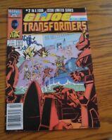 000 VTG G.I. Joe and the Transformers Comic Book #2 Feb 1987 Marvel Nice Cond
