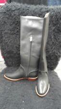 NIB UGG WOMENS boots WHIPSTITCH LEATHER BLACK 6