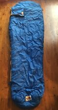 North Face Mummy Sleeping Bag Blue Synthetic Good Condition Vintage
