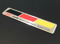 NEW AUDI SPORT GERMANY FLAG TEAM GOH BADGE EMBLEM BOOT A3 A4 A5 A6 A8 S3 S4 S6