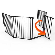 Perma Super Wide 3-in-1 Playpen Barrier, 6 Panel Play Yard Baby Gate, Black