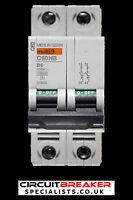 MERLIN GERIN 6 AMP TYPE B 10kA DOUBLE POLE MCB CIRCUIT BREAKER C60HB 25855