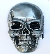 3D Skull Belt Buckle Biker Goth Metal Rock Gnash
