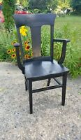 Antique heywood brothers wakefield wooden black armrest Chair