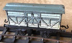 Bing / Bassett Lowke early LNWR Cattle Truck 1 Gauge One tinplate