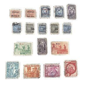 ECUADOR, SCOTT # 545+560-562(3)+566-570(5)+563/564(2),1950-53 PICTORIAL USED