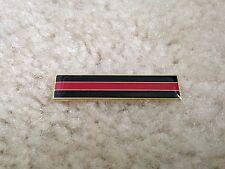 Thin Red Line Citation Bar Fireman Firefighter Dept Uniform Pin Support Hero TRL