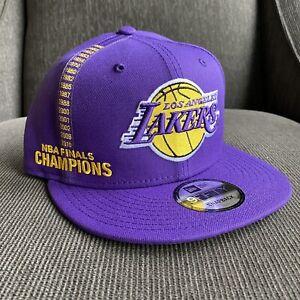 New Era 950 9Fifty LA Los Angeles Lakers NBA Finals Champions Snapback Hat Cap