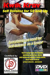 """""""SELF DEFENSE at 50 & Older"""" Krav Maga training Video, DVD."""