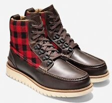 Cole Haan LEATHER BOOTS Grand Explore Waterproof Moc-Toe Boots 10 M
