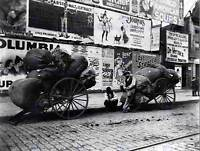 RAG CARTS NY 1896 VINTAGE HISTORY OLD BW PHOTO PRINT POSTER ART 1620BW