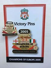 DANBURY LIVERPOOL FC VICTORY PIN BADGE 2005 CHAMPIONS LEAGUE WINNERS VS AC MILAN