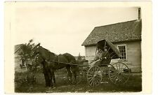 Ohio -STYLISH COUPLE IN HORSE DRAWN CARRIAGE - RPPC Postcard Buggy