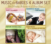 MUSIC FOR BABIES 4 CD SET Baby Lullabies, Classical Baby, Baby Nature Sounds NEW