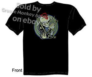 Skull Rocker T shirt, Retro Rockabilly Clothing Kustom Kulture Sz M L XL 2XL 3XL