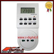 PRESA TIMER DIGITALE DISPLAY LCD ELETTRICA PROGRAMMABILE ORARIO TEMPORIZZATA