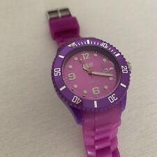 Ice Watch World&Classic Purple Quartz Movement Unisex with DATE/ Used Once