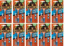 10x Gorilla Super Glue Tough Bond 2 X 3g Tubes Anti Clog Cap