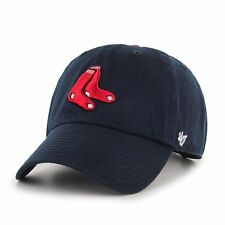 Boston Red Sox 47 Brand MLB Strapback Adjustable Dad Cap Hat Navy Clean Up
