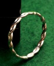 Hand made hallmarking quality sterling silver, braided rope ring, any size made