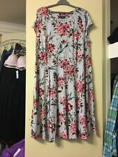 Dorothy Perkins Billie And Blossom Curve Grey Floral Jersey Dress Plus Size 22
