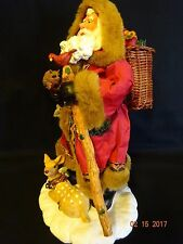 Possible Dreams Clothique  Old World Rustic/Country Santa in Nature Figurine