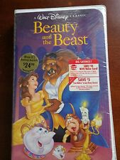 RARE! Beauty and The Beast VHS 1992 Black Diamond Classic.New/Factory-sealed!