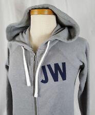 JACK WILLS Womens Hoodie Sweatshirt Jacket US Sz 2 UK 6 Gray Cotton Full Zip