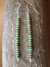 Navajo Indian Jewelry Hand Beaded Turquoise Earrings