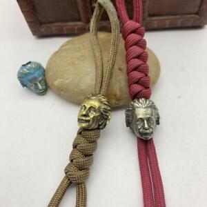 Head Sculpture Bead EDC Pull Keychains Knife Pendant Bracelets Lanyard Paracord