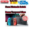 Neon Blue Neon Red Nintendo Switch Joy-Con Console Bonus Tempered Glass