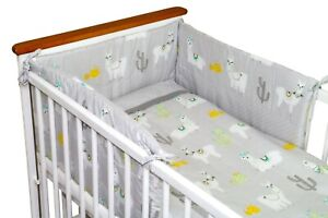 Nursery Baby Bedding with trim Bedding 3 or 5 Pcs Set Cot or Cot Bed Alpaca/Dots