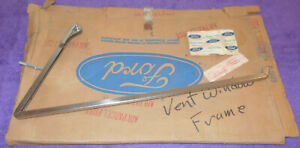 1966 1967 Ford Bronco NOS LH STAINLESS DOOR VENT WINDOW FRAME New Old Stock