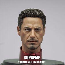 Supreme 1/4 Scale Tony Stark Head Sculpt For Hot Toys MK43 MK45