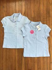 Girls Size 4 Light Blue Uniform Polo Shirt Lot Nwt