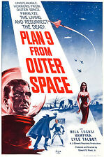 Plan 9 From Outer Space MOVIE ART PRINT 30x40cm