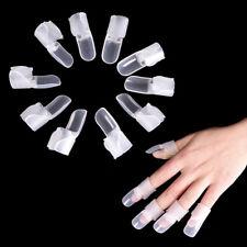 10 x Nail Art Polish Resin Clip Cap Protectors Covers Wrap Tool Anti-scratch ZO