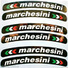 Marchesini Laminated Wheel Rim Logo Sticker Decal x 8 Ducati Aprilia