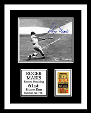 1961 ROGER MARIS *61st HOME RUN* TICKET & PHOTO DISPLAY