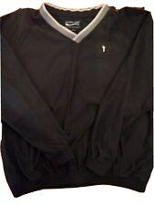 Austin Golf Black XL Wind resistant Long Sleeve Performance Pullover Coach Ball