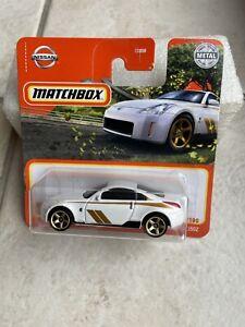 2021 MATCHBOX 2003 NISSAN 350Z BLANC 1:64 #75/100